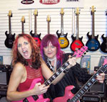 Shredmistress Rynata and Jennifer Corday at Switch Guitars