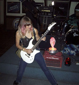 Female Blues Rock Guitarist Rynata with Bill Tipton Guitar